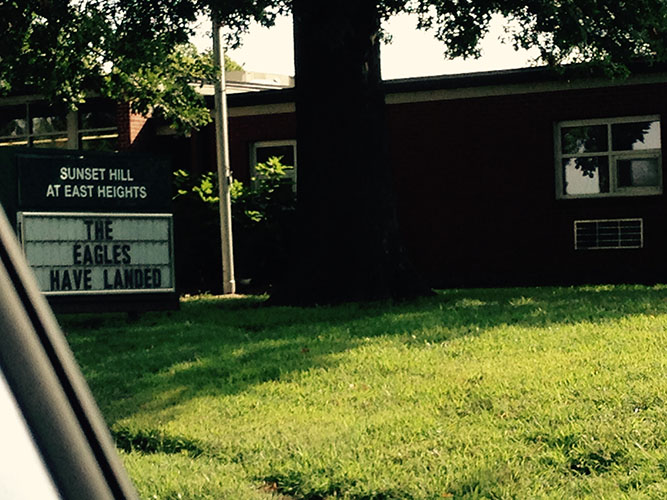 Sunset Hill School Sign