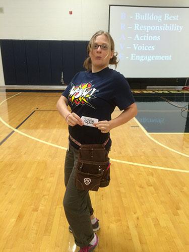 Ci3T Teacher holding a ticket