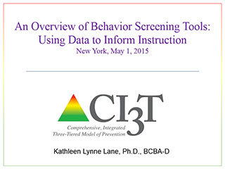 an overview of behavior screening tools using data to inform instruction