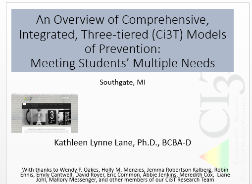 An Overview of Comprehensive Integrated, Three-tiered Models of Prevention: Meeting Students' Multiple Needs