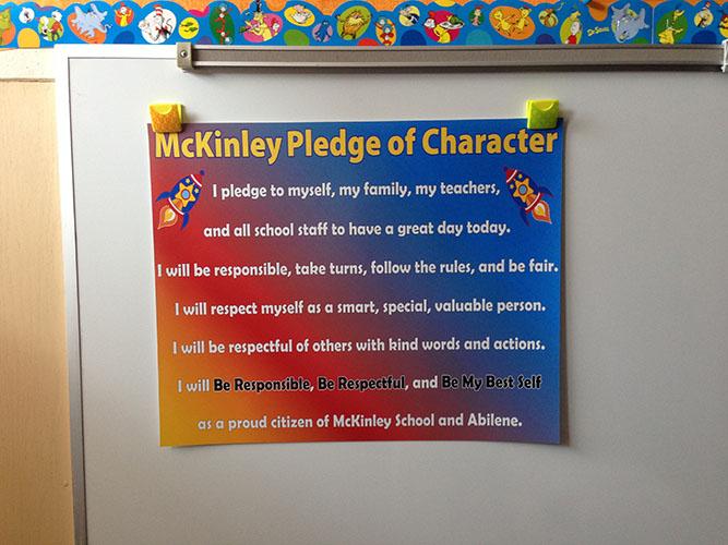 McKinley Pledge of Character