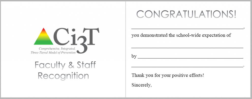 Ci3T Staff Recognition Postcard
