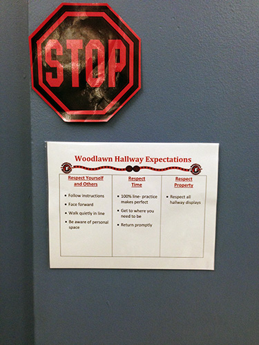 stop sign and hallway expectation matrix