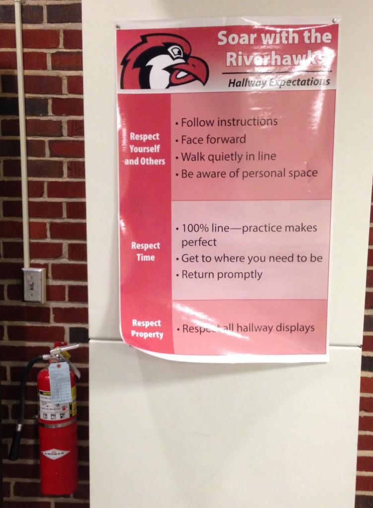 Riverhawk Hallway Expectations