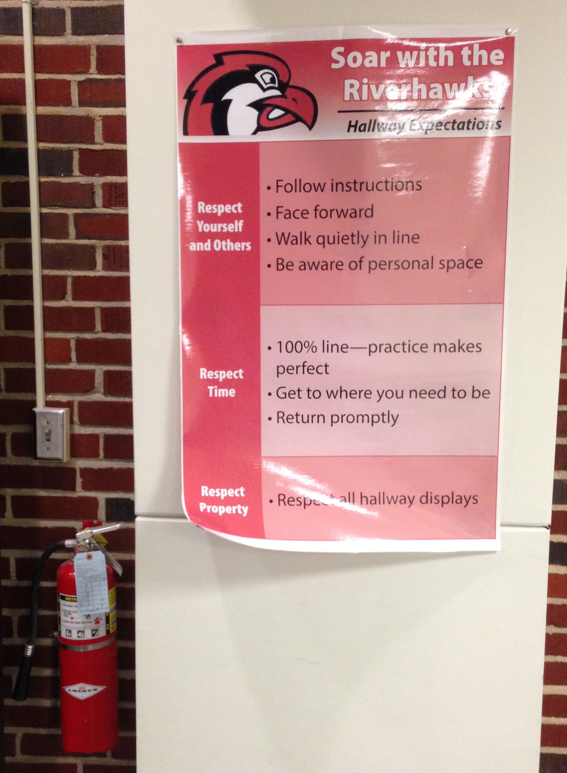Riverhawks Hallway Expectations