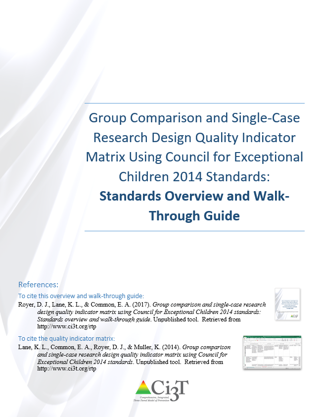 Cover page of QI Coding Matrix Walk-Through